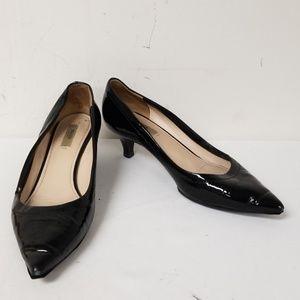 Prada Black Slip On Pumps Low Heels Size 37